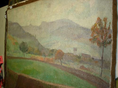 Bild: Ölmalerei, Landschaft CH   Jura, Schauenburg (?)